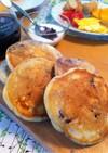 卵なし!米粉入りブルーベリーパンケーキ