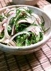 おかひじき※ポン酢で中華サラダ※