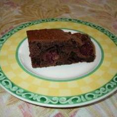 アメリカンチェリー入りのチョコケーキ