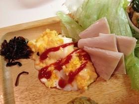 朝食に♪レンジdeチーズオムレツ