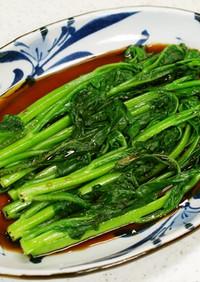 シンプルの極み!青菜with紹興酒タレ
