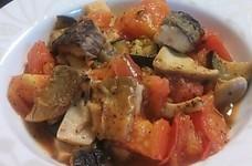塩サバとトマトと茄子のイタリアン風ソテー