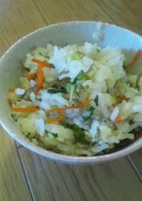 小松菜とおじゃこの混ぜご飯♪