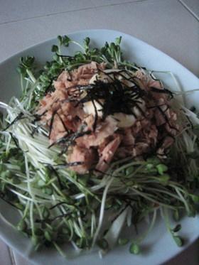 さっぱりシャキシャキ☆お豆腐のサラダ