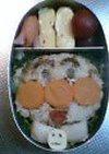 デカチビの憧れ◆アンパンマン弁当◆で足りない栄養補おう作戦