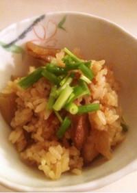 菊芋入りつけ麺、簡単リメイク炊き込みご飯