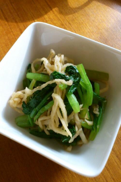 *小松菜と切干大根のお浸し*