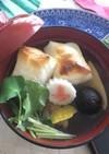 かつお昆布と鶏出汁☆ダブルスープのお雑煮