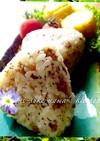 。ஐஃ肉味噌で簡単☆紫蘇おにぎり。ஐஃ