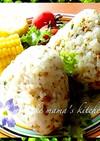 。ஐஃ肉味噌で簡単☆チーズおにぎり。ஐஃ