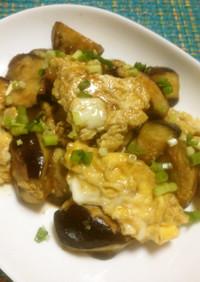 カロリー控えめ✿なすと卵の甘辛炒め