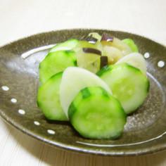 田子にんにくと胡瓜と茄子の浅漬け