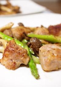 鶏もも肉のマヨしょう油マスタード炒め