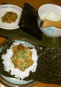 ササッとランチに手巻き✿梅シソ納豆