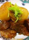 ブロック肉と大根の甘辛煮