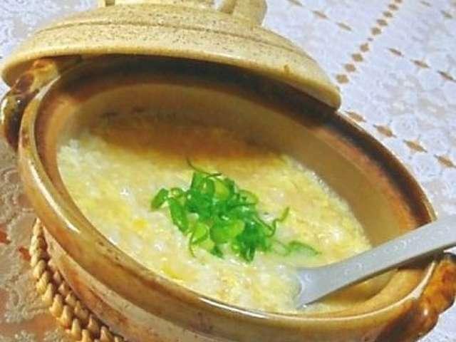 卵 雑炊 レシピ 人気
