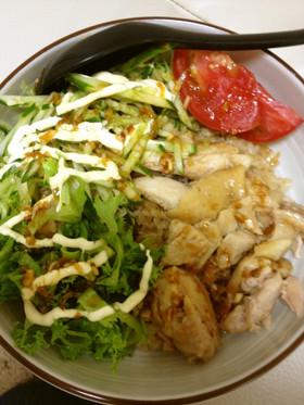 炊飯器で簡単!シンガポール チキンライス