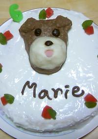 愛犬の3D似顔絵 de バースデーケーキ