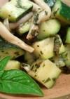 ズッキーニのバジルペーストマリネ