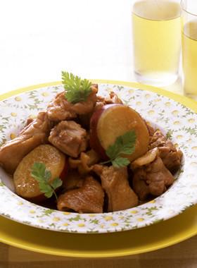 鶏肉とさつまいもの甘辛煮