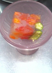 夏野菜冷え冷えクールコンソメかんてん