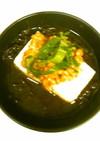 夏バテ回復 豆腐ともずくの納豆のせ