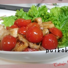 豚バラとトマトの塩麹炒め