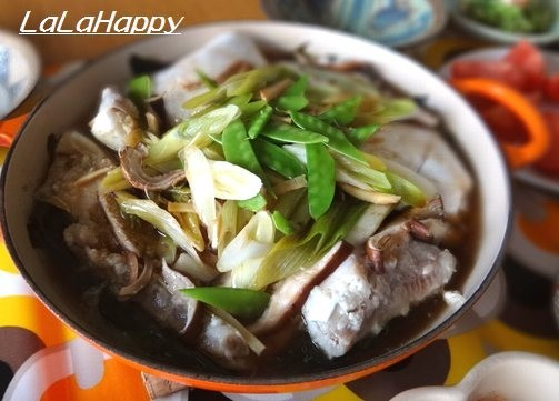 簡単♪塩麹魚&和風野菜とわかめの重ね蒸し