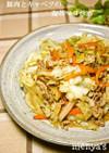 豚肉とキャベツの海苔マヨ炒め