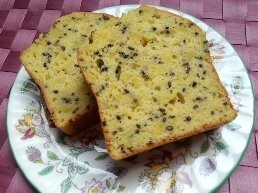 シュガーカットでさつま芋のパウンドケーキ