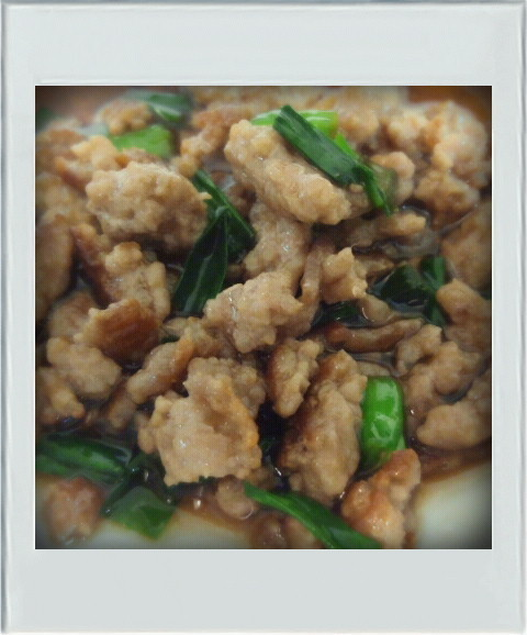 ■朝お弁当丼■ひき肉ニラ簡単そぼろ麻婆味
