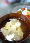 冬瓜とお豆腐の冷たい汁物