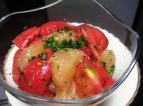 トマト&グレープフルーツのサラダ♪