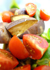 茄子とピーマンとトマトのポン酢マリネ