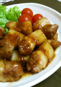 ボリューム満点*豚バラブロックの生姜焼き