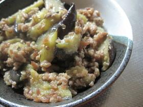 豚挽肉と茄子の甘味噌炒め