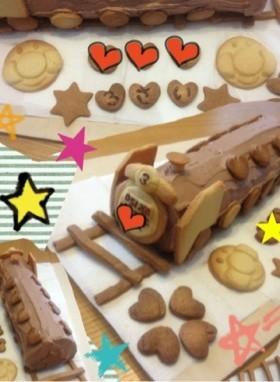 誕生日に機関車(D51)ケーキ