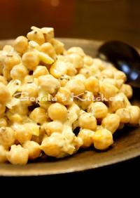 カレーにぴったり☆ひよこ豆のライタサラダ