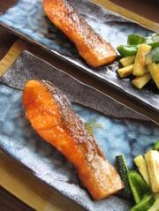 秋鮭の生姜焼き。の写真