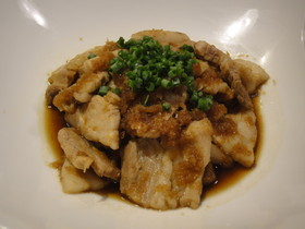 豚ばら肉のおろしポン酢タレ焼き