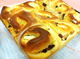 カスタードアップルレーズンくるみパン