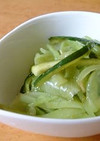玉葱とズッキーニの海苔の佃煮和え