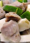 砂肝と長芋ときゅうりのポン酢あえ