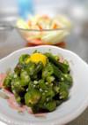 小さな野菜のおかず☆オクラの芥子醤油和え