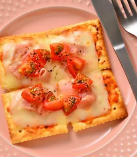 生ハム&トマトのクラッカーピザ