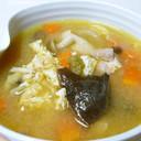血を補う!きくらげの味噌スープ