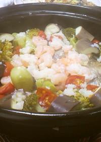 塩麹でアクアパッツァ