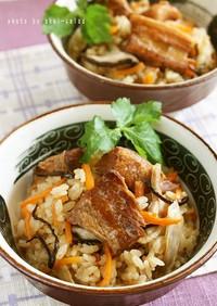 豚の角煮で 沖縄風炊き込みご飯ジューシー