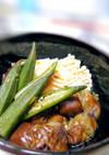 梅風味でサッパリ★茄子とオクラの酢の物