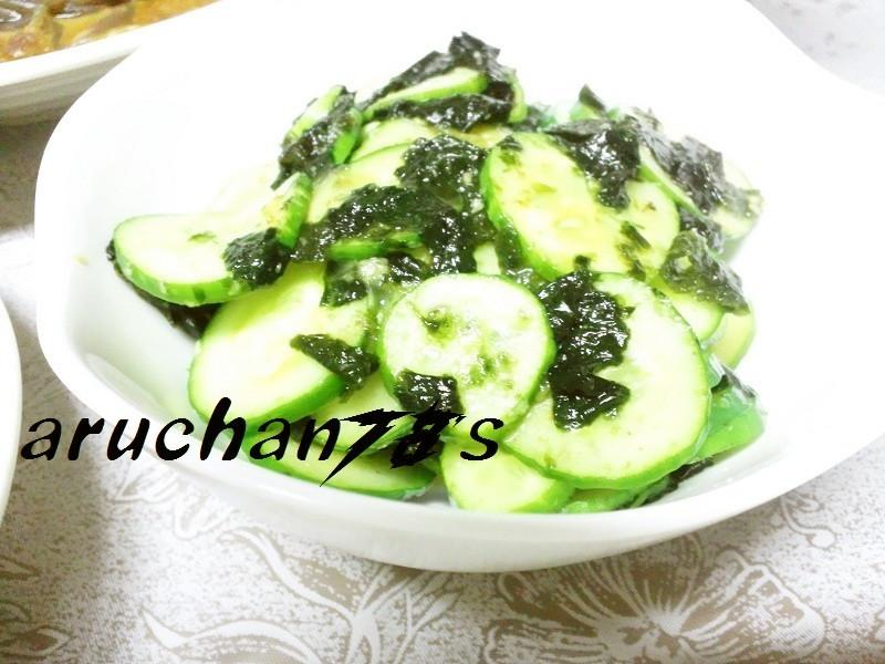 超簡単☆胡瓜ともみ海苔の生姜醤油和え☆*